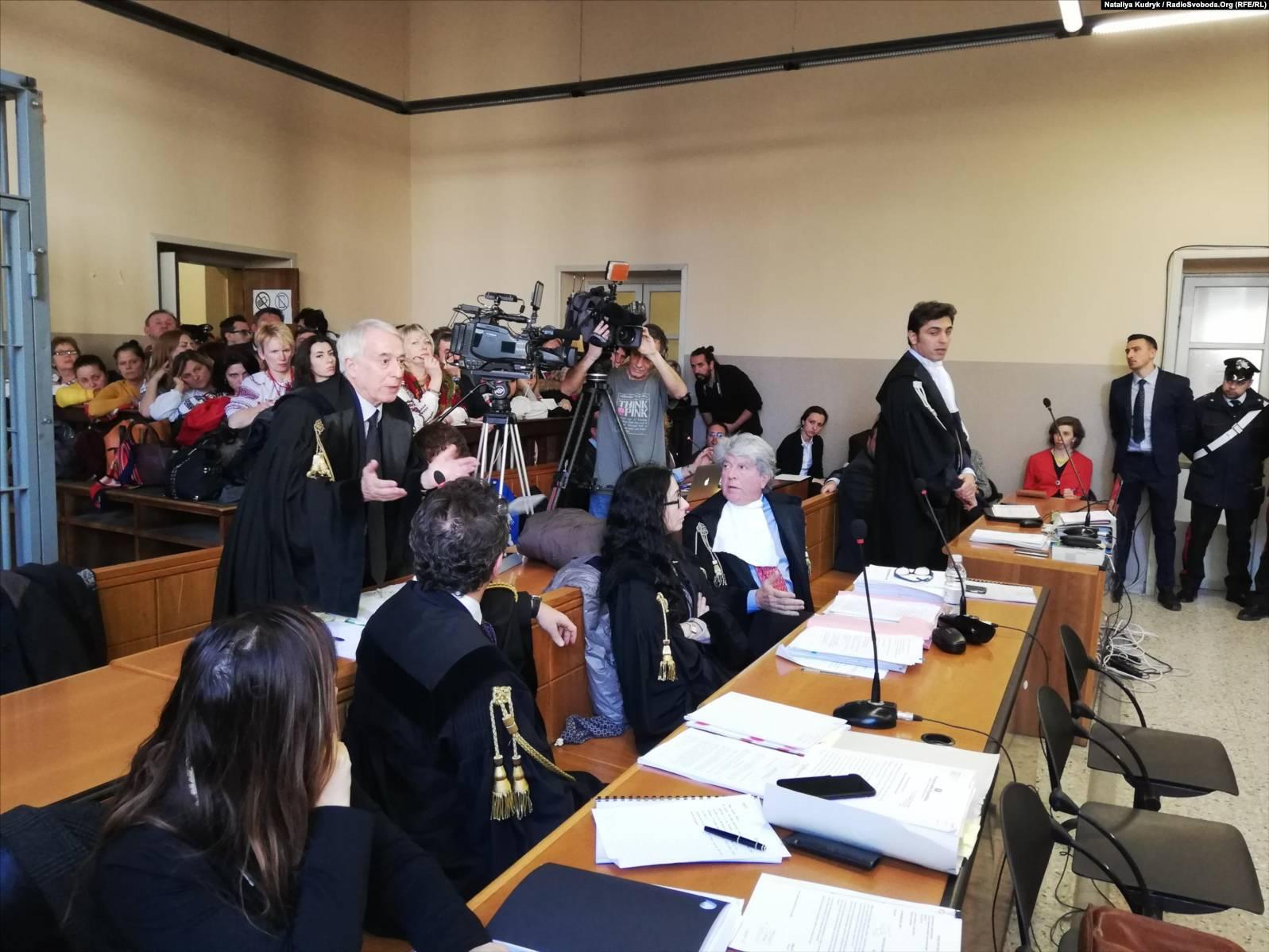Суд на українським військовим Віталієм Марківим, Павія, 15 березня 2019 року