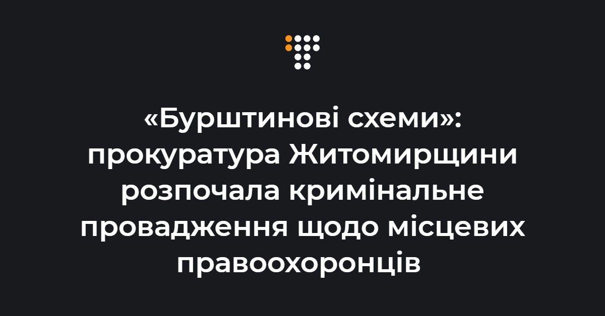«Бурштинові схеми»: прокуратура Житомирщини розпочала кримінальне пров