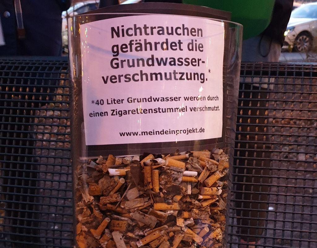 MeinDeinUnser Zigarettenmüll - Zigarettenstummel sammeln
