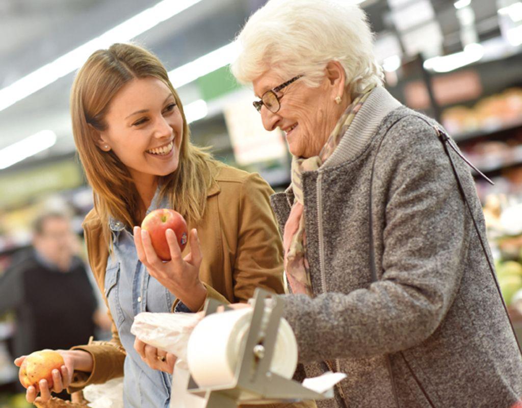 Mobiler Einkaufswagen für Senioren