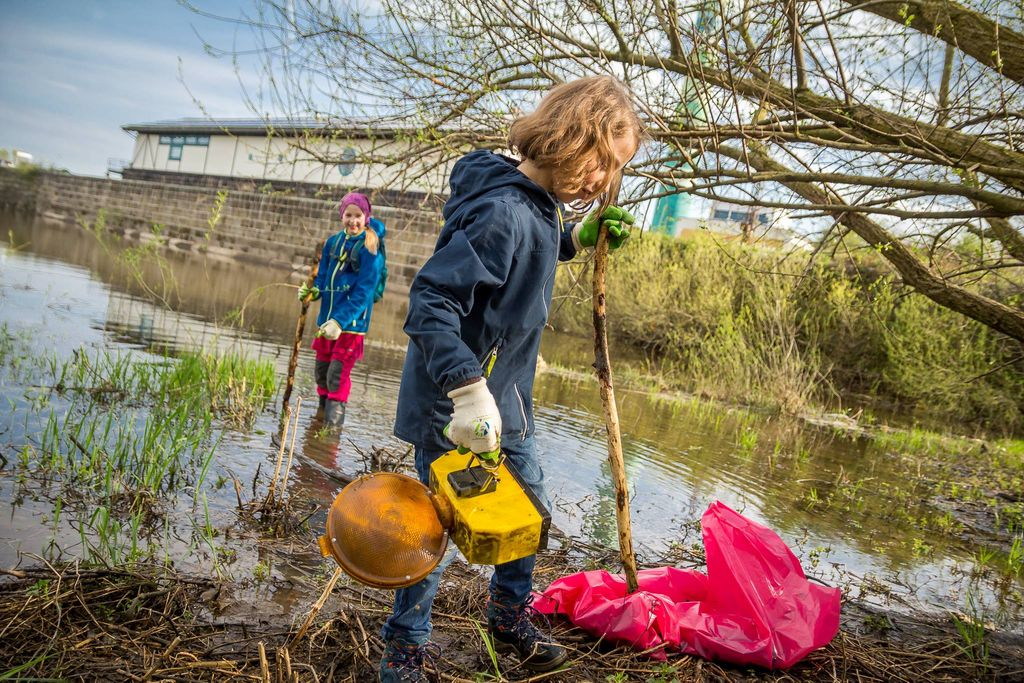 Elbwiesnreinigen International Coastal Cleanup Day #trashtag