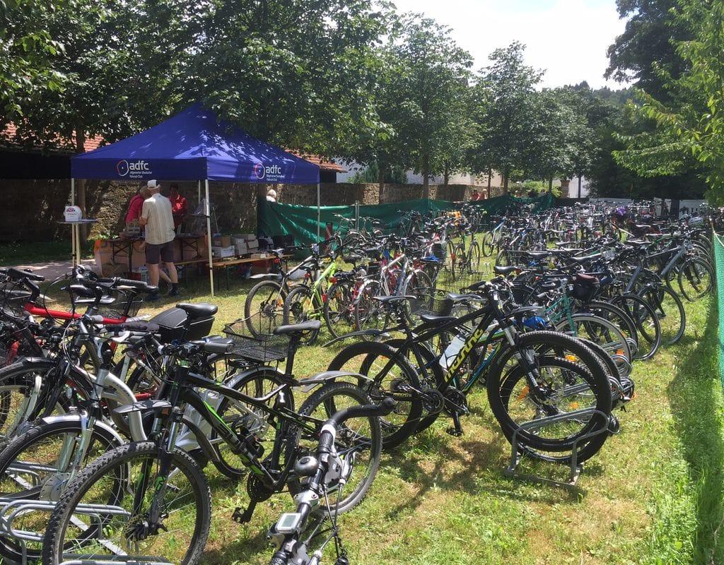 Fahrradparken beim Stadtfest Donzdorf