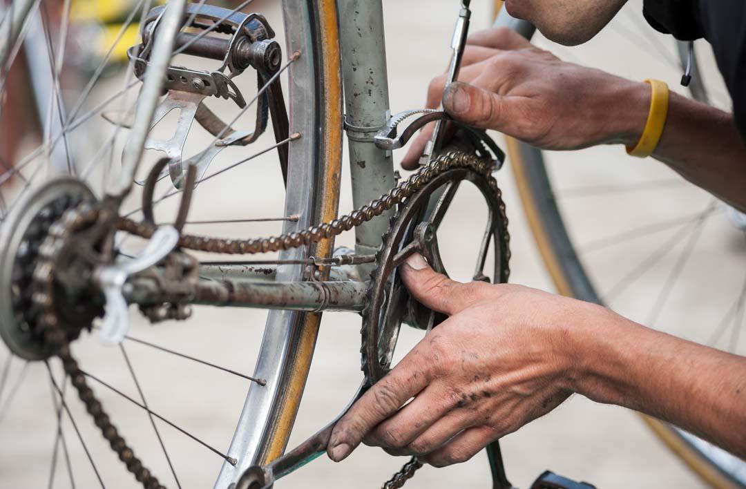 Mobile Fahrradwerkstatt - Gemeinsam mit Geflüchteten helfen