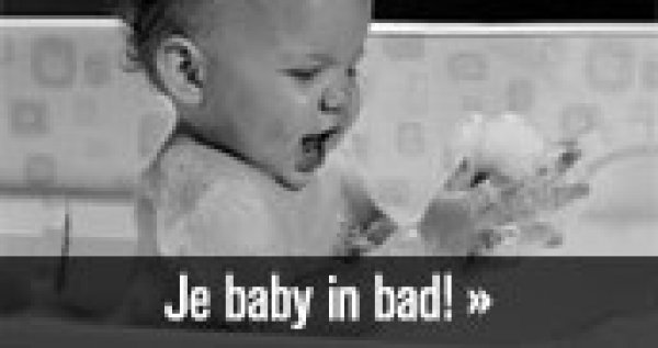 Afbeelding blog 'Je baby in bad!'