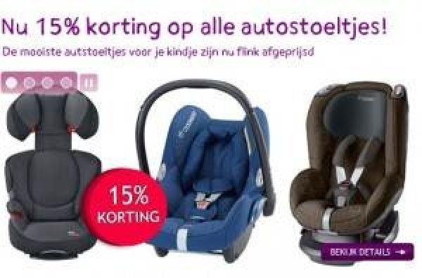 Afbeelding blog '15% korting autostoeltjes Prenatal'