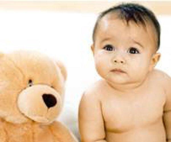 Afbeelding blog 'Lachende/slapende baby'