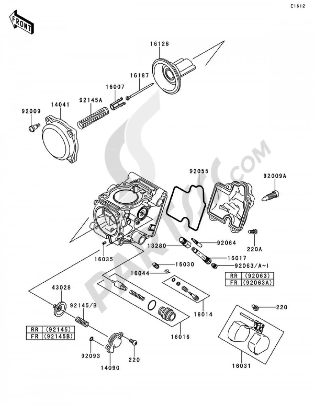 Carburetor Parts1 2 Kawasaki Kfx700 2011 220 Engine Diagram