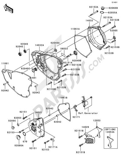Despiece de recambios Kawasaki KX250F 2007 Compra online – Kx250f Engine Diagram