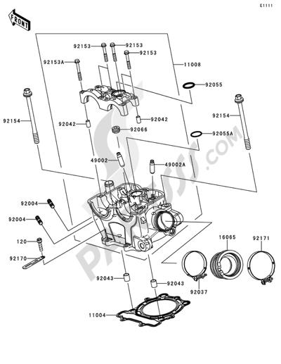 Kawasaki KX250F 2014 Dissassembly sheet Purchase genuine spare – Kx250f Engine Diagram