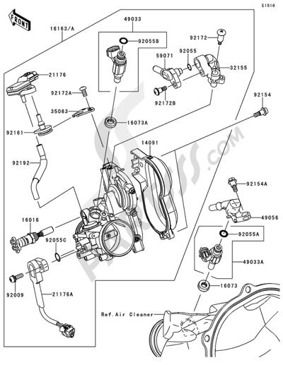 Kawasaki KX250F 2014 Throttle