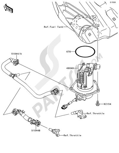 Kawasaki KX250F 2014 Fuel Pump