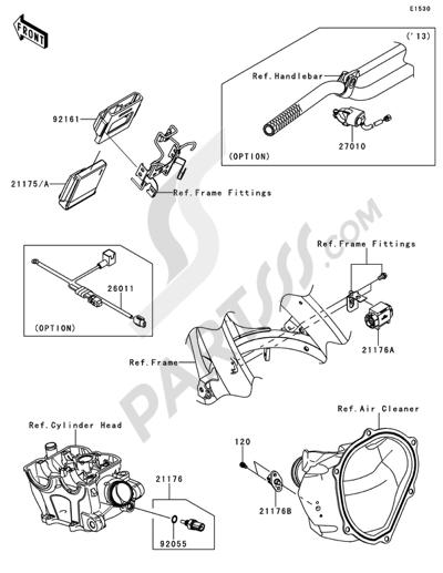 Kawasaki KX250F 2014 Fuel Injection