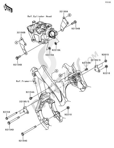 Kawasaki KX250F 2014 Engine Mount