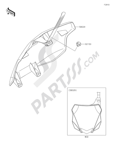 Kawasaki Kx250f 2015 Dissassembly Sheet Purchase Genuine Spare