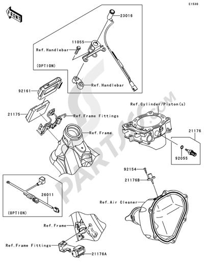 kawasaki kx450f 2011 dissassembly sheet  purchase genuine