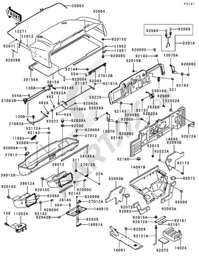 Kawasaki MULE 3000 2006 Frame Fittings(1/3)