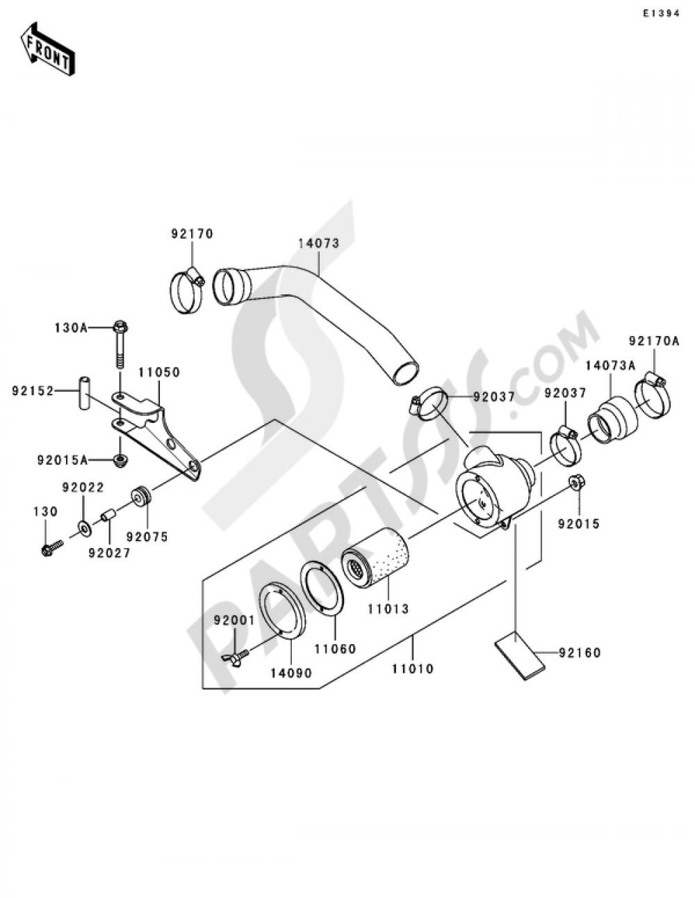 Air Cleaner-Belt Converter Kawasaki MULE 3000 2006
