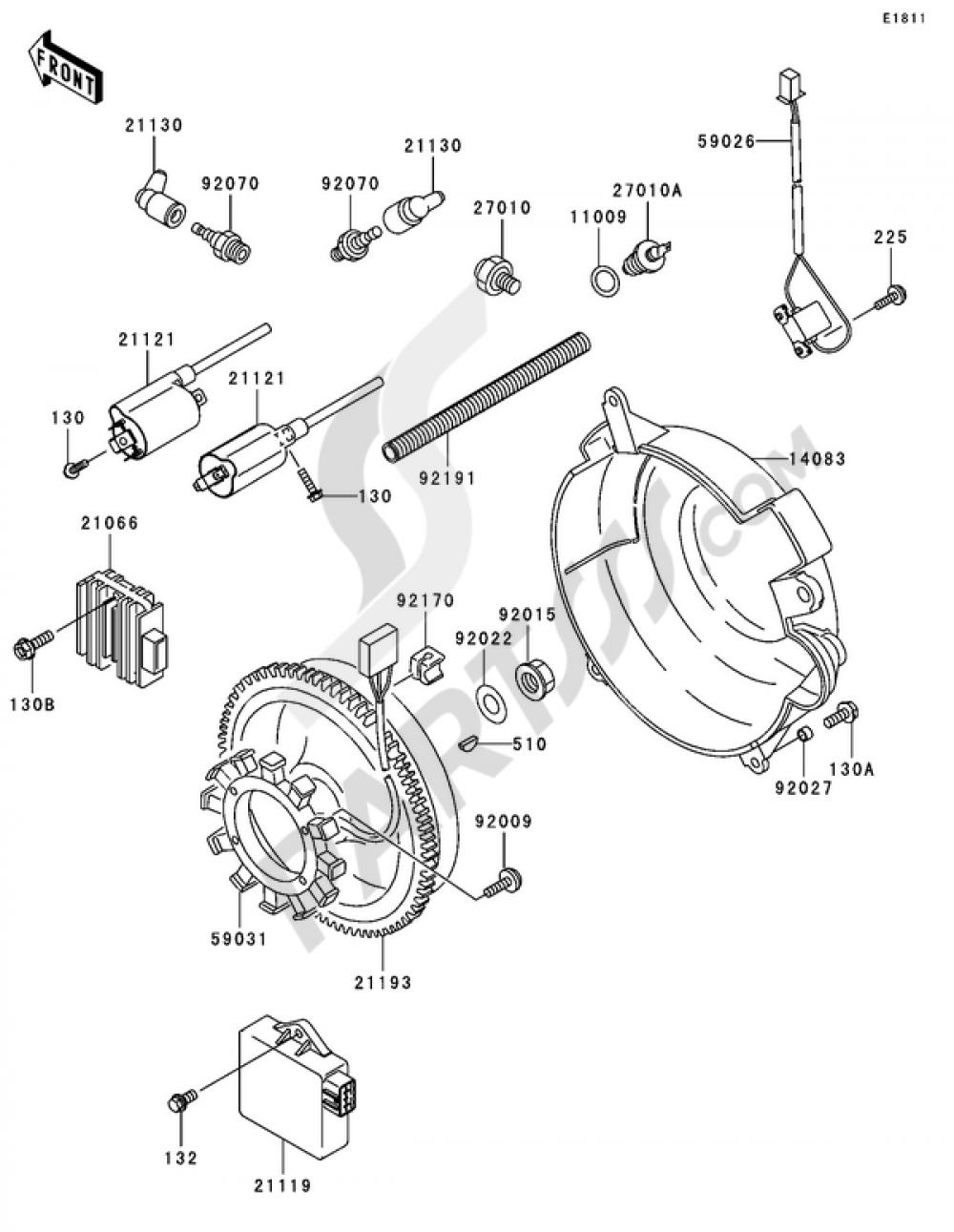 Generator/Ignition Coil Kawasaki MULE 3000 2006
