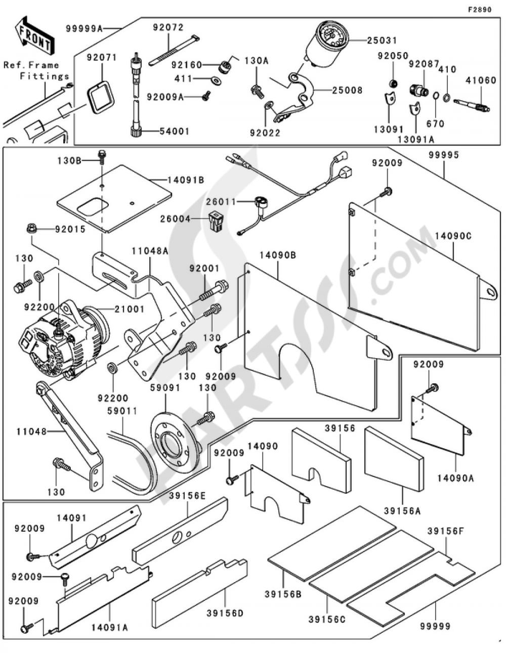 Optional Parts(1/2) Kawasaki MULE 3000 2006