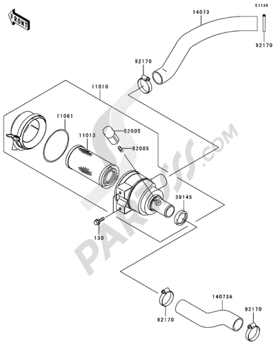 Kawasaki MULE 3010 4X4 2004 Dissassembly sheet  Purchase