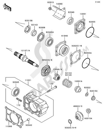 Kawasaki Mule 3010 4x4 2004 Dissassembly Sheet Purchase Genuine. Bevel Gear Case12 Kawasaki Mule 3010. Kawasaki. Kawasaki Mule 3010 Parts Diagram Carb At Scoala.co