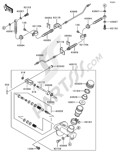 kawasaki mule 3010 diesel 4x4 2004 dissassembly sheet  purchase genuine spare parts online