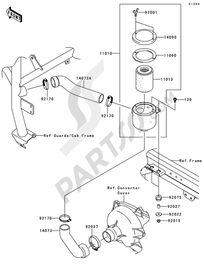 Kawasaki Mule 4010 Diesel 4x4 2011 Dissassembly Sheet Purchase
