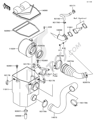 Kawasaki MULE 600 2006 Dissassembly sheet  Purchase genuine spare