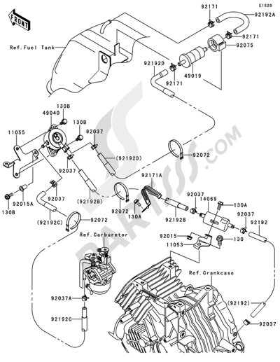 Kawasaki Mule 610 4x4 2012 Dissassembly Sheet Purchase Genuine