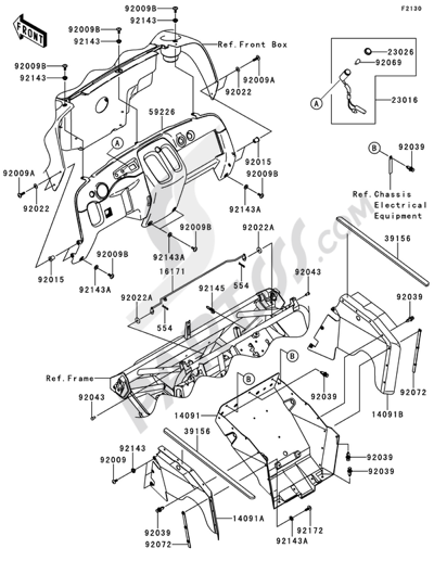 Kawasaki Mule 610 4x4 2013 Dissassembly Sheet Purchase Genuine
