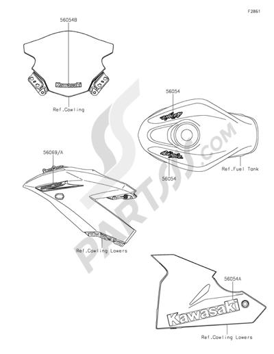 Kawasaki Ninja 250sl 2015 Dissassembly Sheet Purchase Genuine Spare