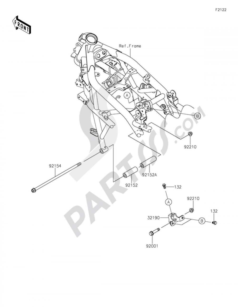 Engine Mount Kawasaki Ninja 250sl 2015 Mounting Diagrams