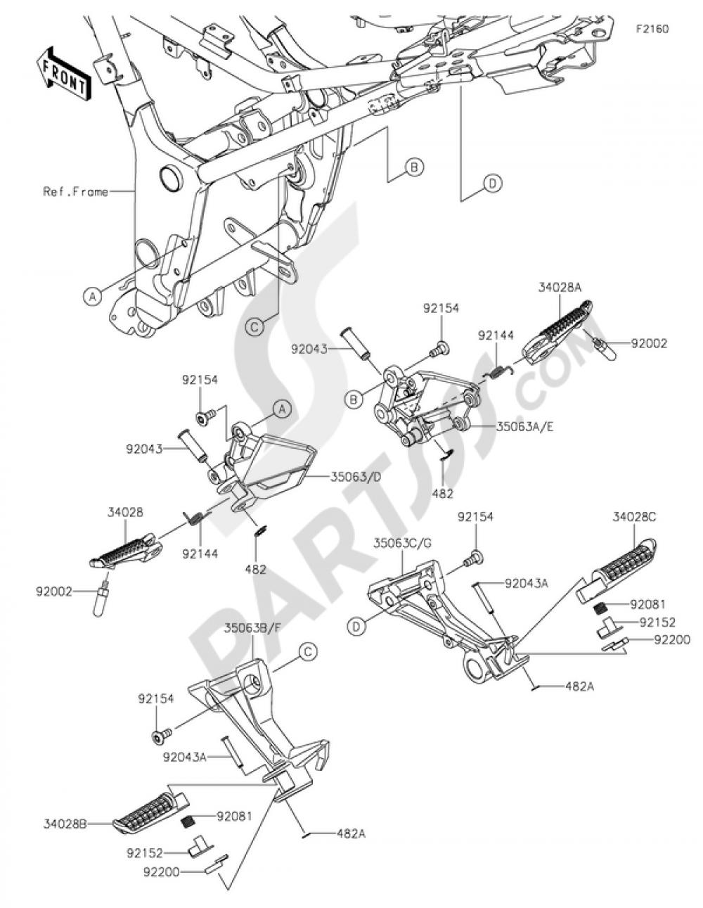 Footrests Kawasaki Ninja 300 Abs 2014 Engine Diagram