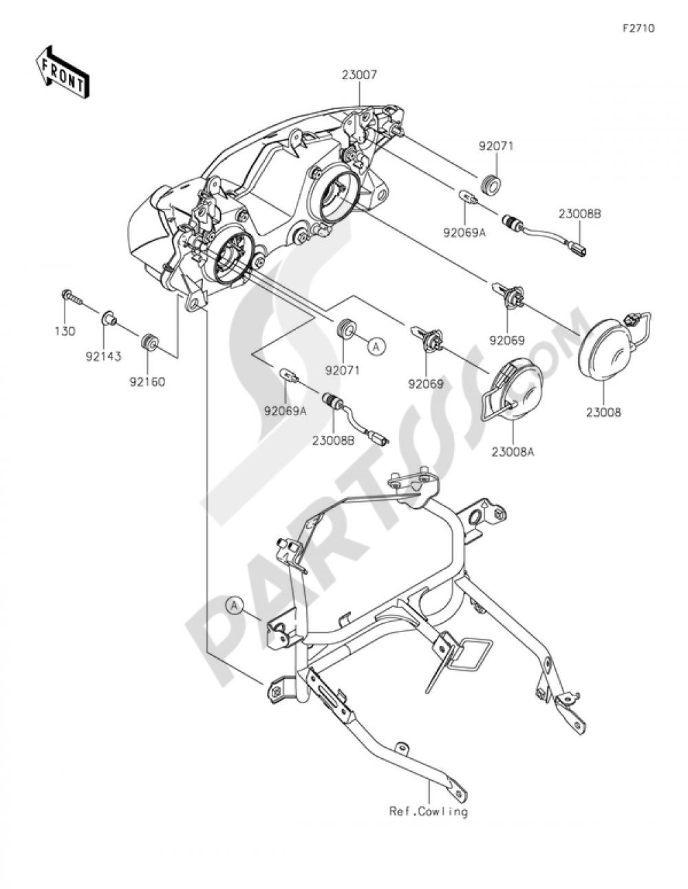 Headlights Kawasaki Ninja 300 Abs 2014 Engine Diagram