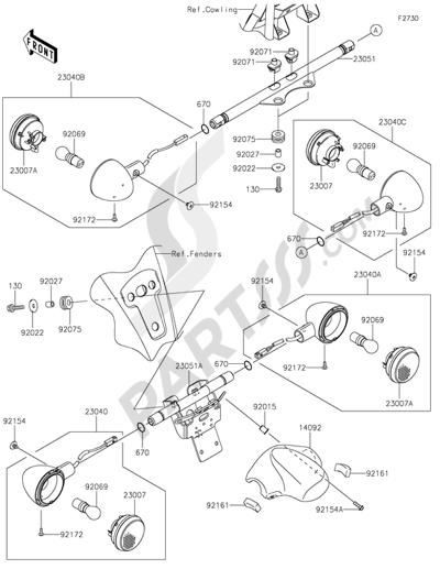 Kawasaki Vulcan 1700 Voyager Abs 2013 Dissassembly Sheet Purchase