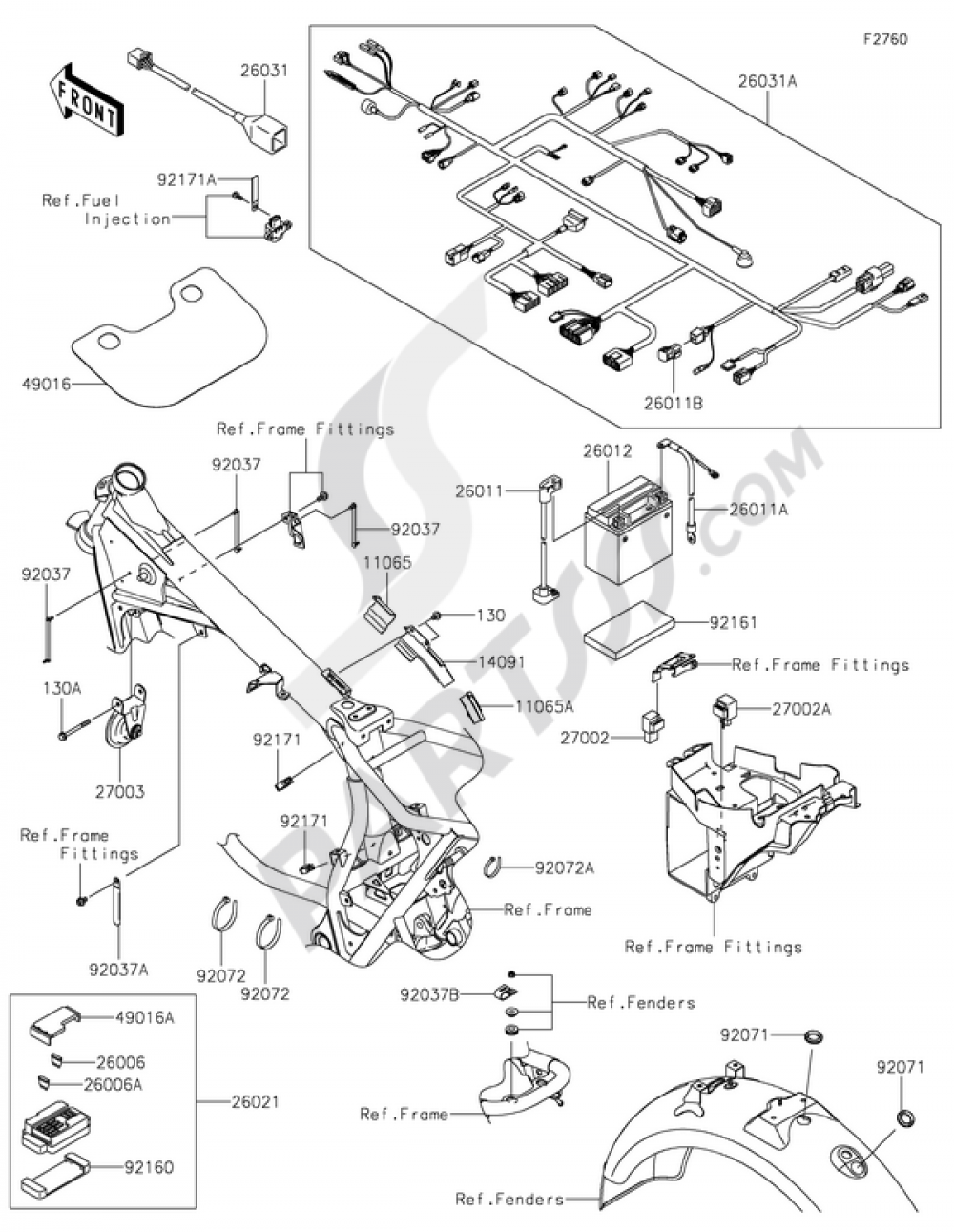 Kawasaki W800 Wiring Diagram Simple Diagrams Together With Klr 650 On Pioneer Chassis Electrical Equipment 2015 2006 Klr650