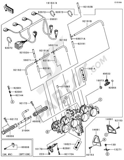Kawasaki Z1000 2004 Dissassembly Sheet Purchase Genuine Spare Parts