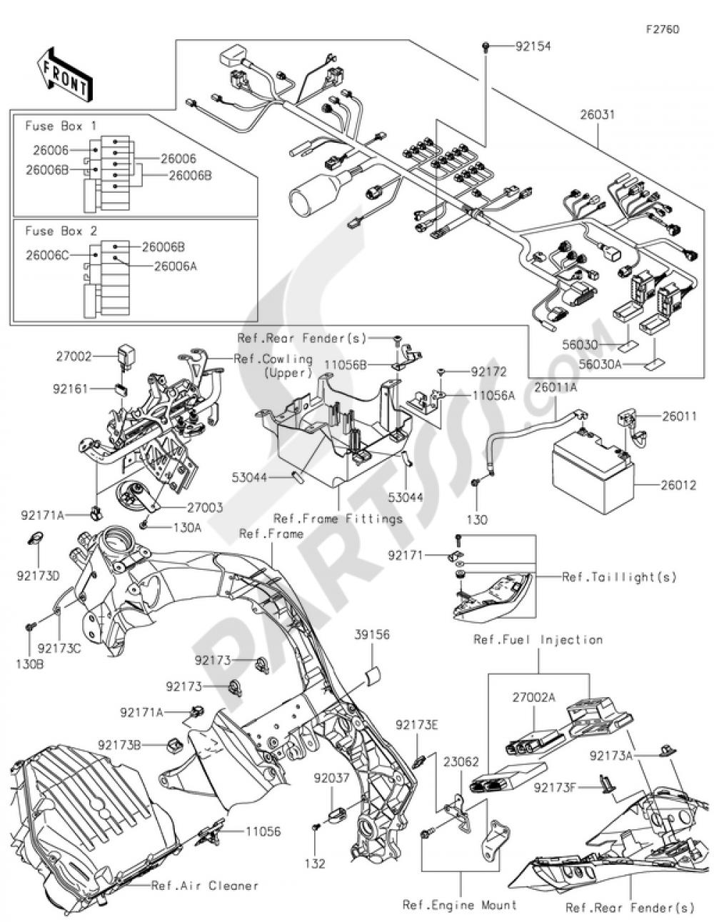 Groovy Chassis Electrical Equipment Kawasaki Z1000Sx 2015 Wiring Cloud Xeiraioscosaoduqqnet