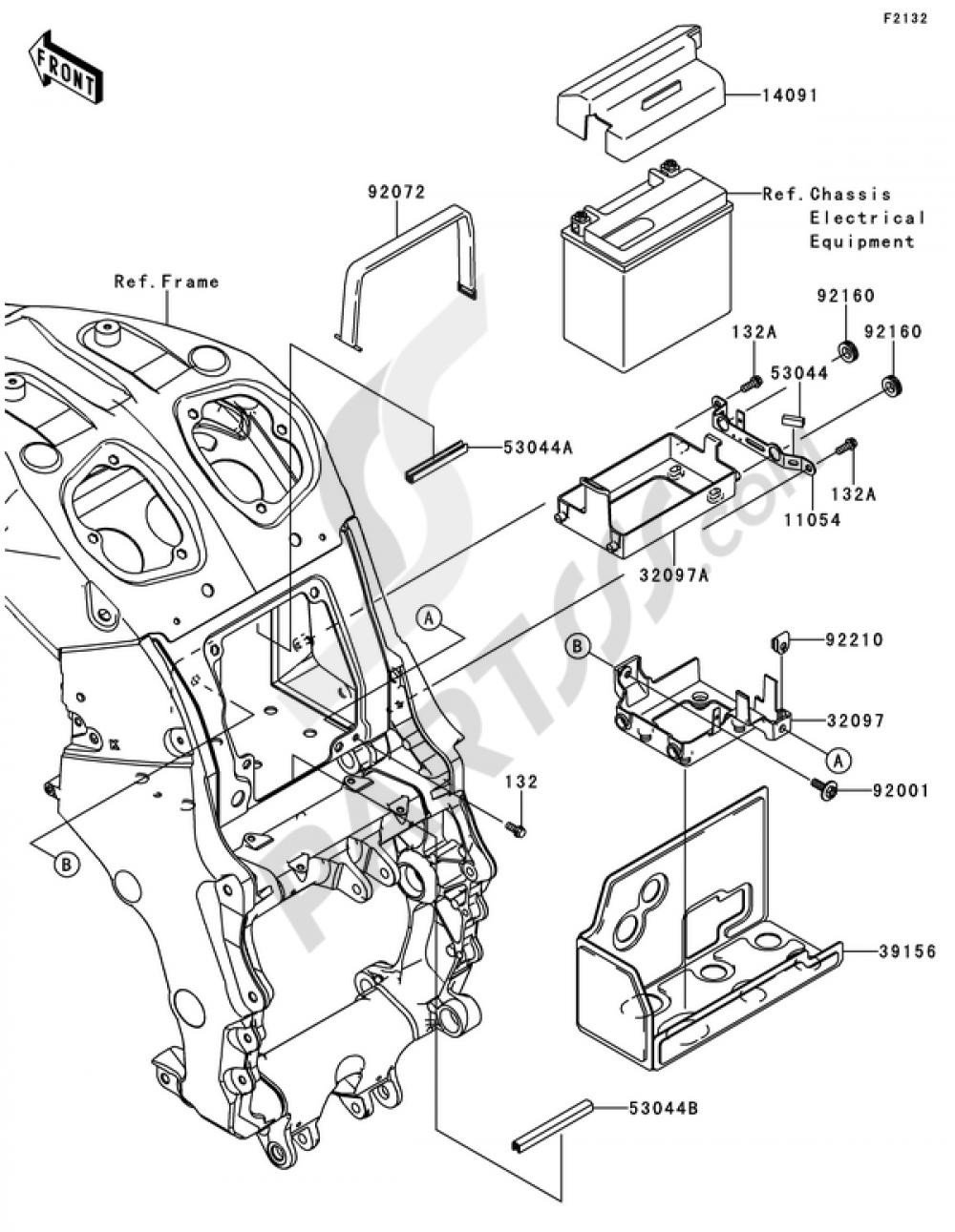 Battery Case Kawasaki Zzr1400 Abs 2012 Zzr 1200 Wiring Diagram