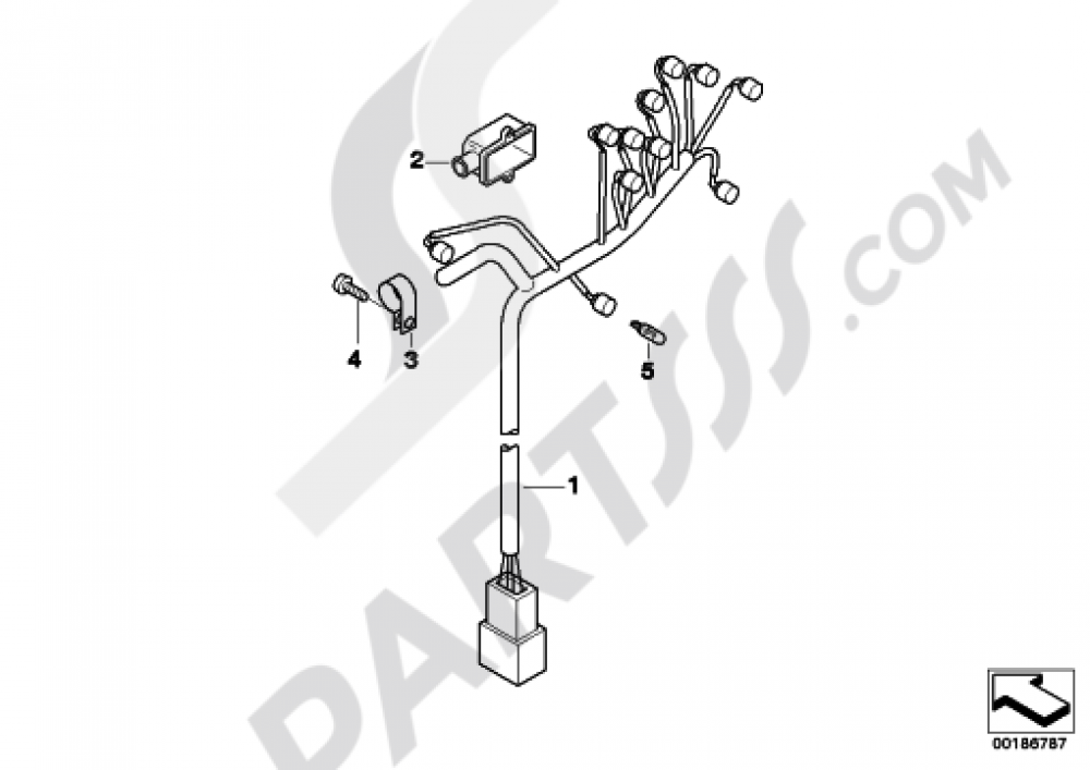 Wiring Harness  Instrument Cluster Bmw F650cs Scarver 2003