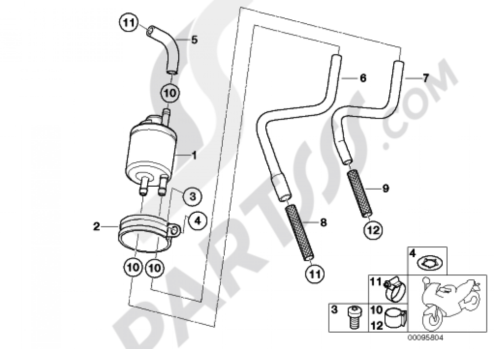 For BMW F 650 650 CS Scarver 2005 55mm Socket For Rear Wheel