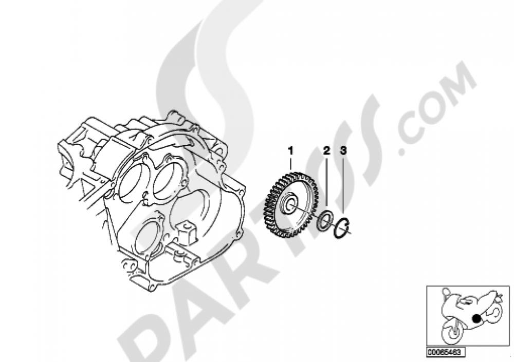 intermediate wheel  oil pump bmw f650gs 2001