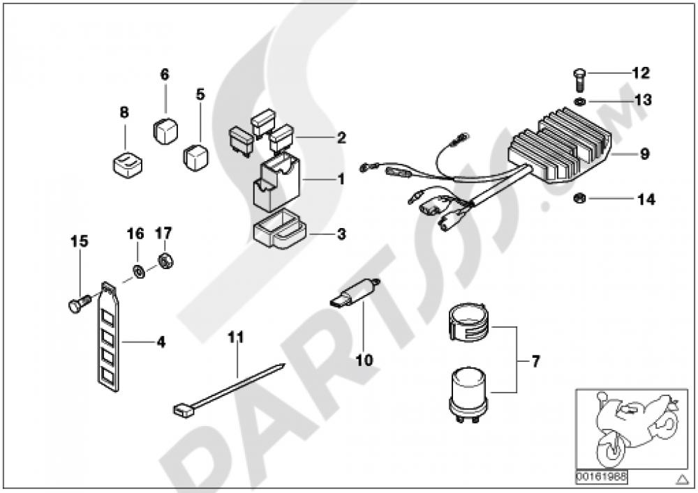 FUSE BOX  RELAY Bmw F650ST F650ST (E169)
