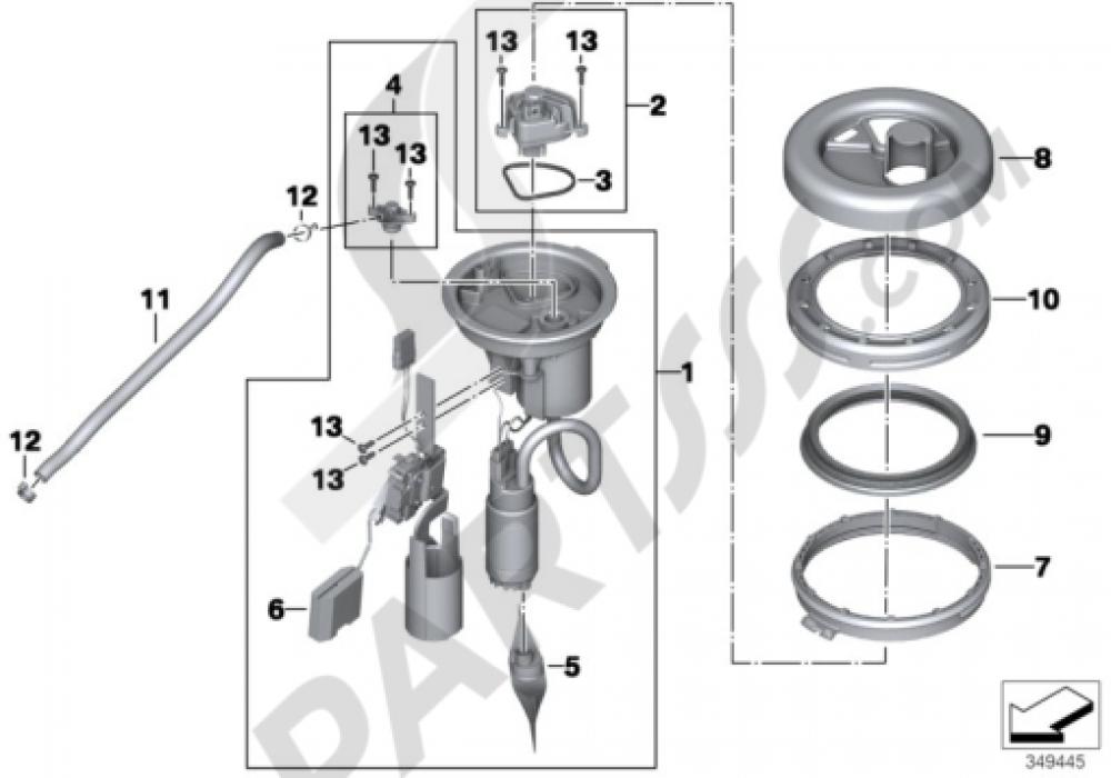 pump bmw f800gs adventure 2013-2015 (k75), Wiring diagram