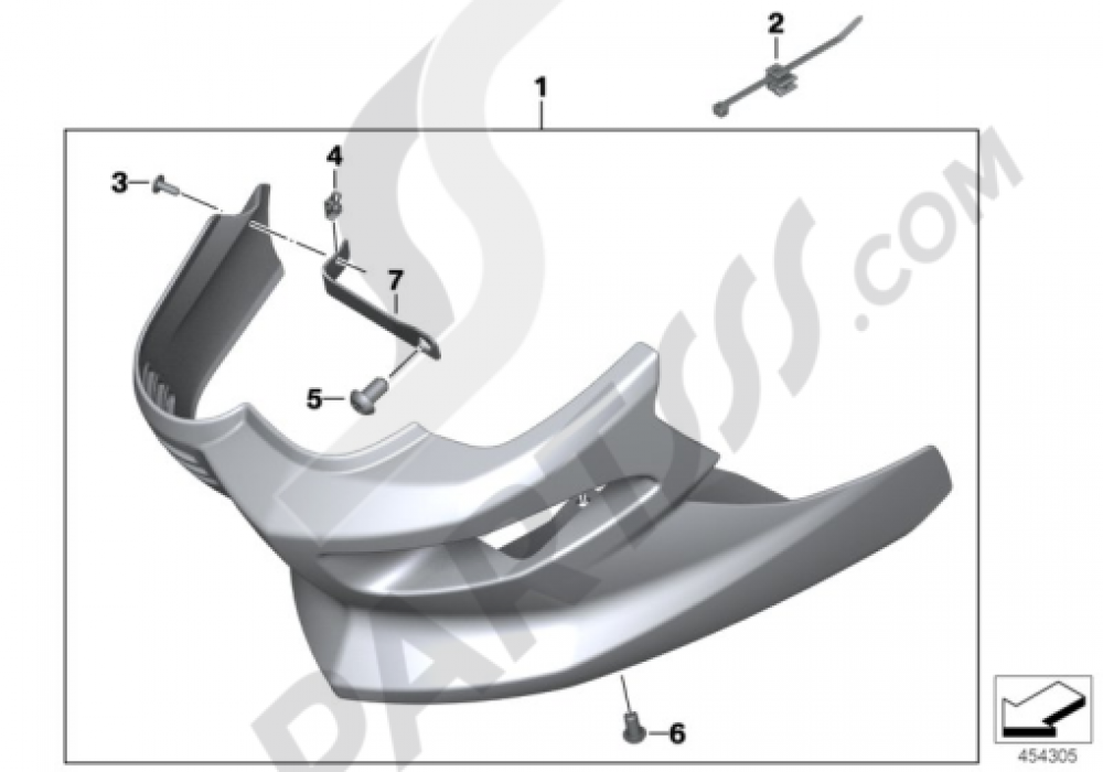 ENGINE SPOILER Bmw F800R 2005-2014 (K73)
