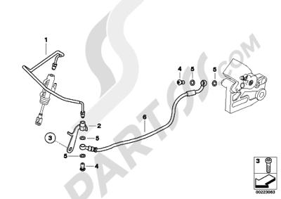 bmw g650gs sertao g650gs sertao (r134) brake pipe, rear, without abs
