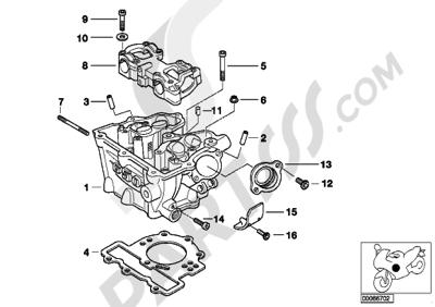 bmw g650gs sertao g650gs sertao (r134) cylinder head