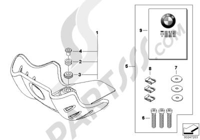 bmw g650gs sertao g650gs sertao (r134) engine guard, aluminum