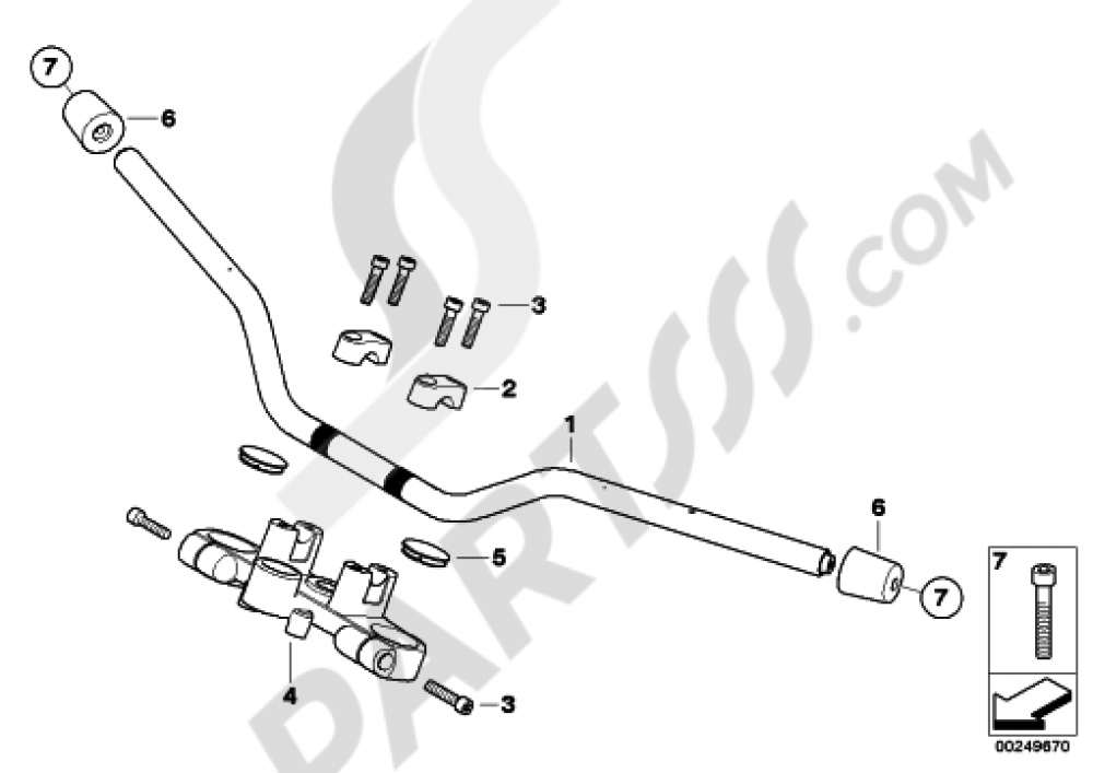 motorcycle handlebar bmw g650gs sertao g650gs sertao r134