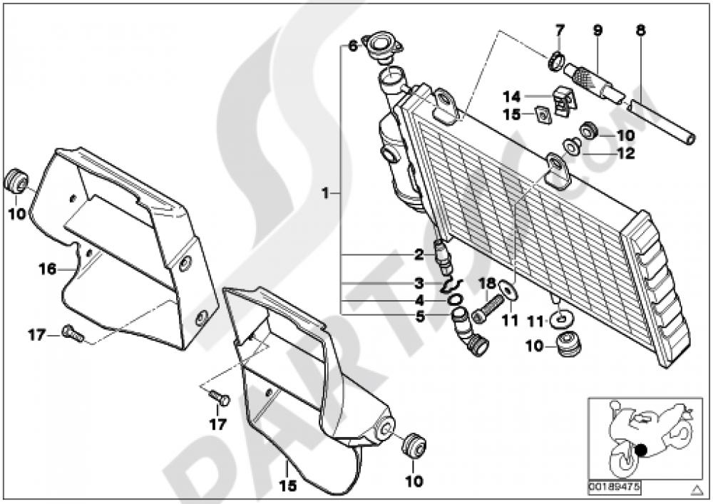 Radiatorair Duct Bmw G650gs Sertao G650gs Sertao R134
